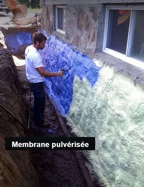 excavation infiltration d 39 eau fissures de fondation. Black Bedroom Furniture Sets. Home Design Ideas